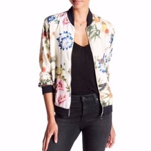 Bagatelle // Butterfly & Floral Bomber Jacket M